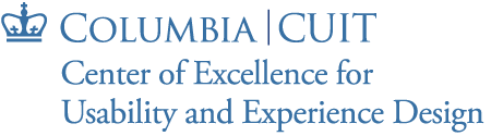 Center of Excellence for Usability and Experience Design logo